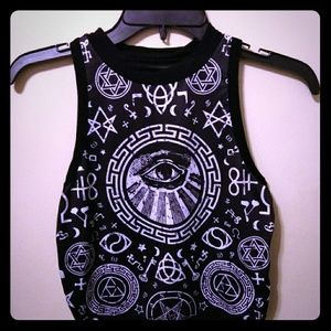 Banned Apparel Occult Crop Top